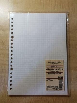 🚚 muji a5 looseleaf paper