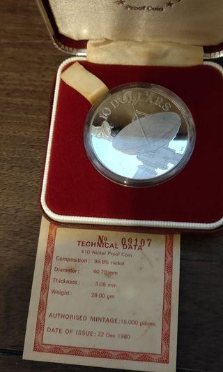 1980 $10 Proof coin