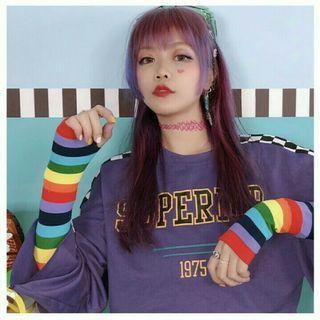 (PO) Rainbow Hand Socks