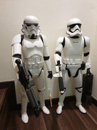 BOTH LARGE Starwars First Order Trooper and Stormtrooper