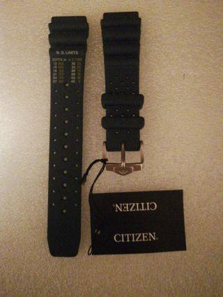 星晨原廠20mm橡膠錶帶