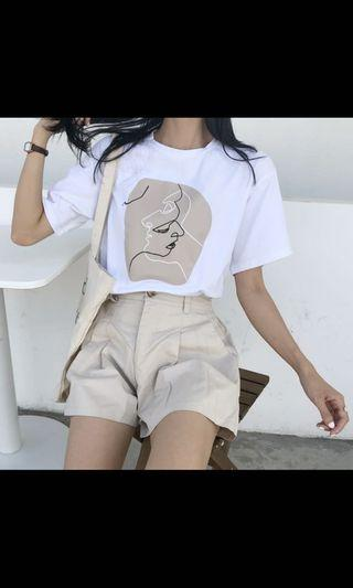 🚚 Lady Silhouette white top