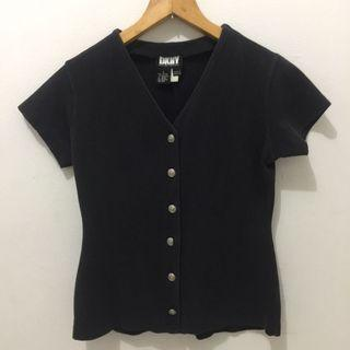DKNY Button Top