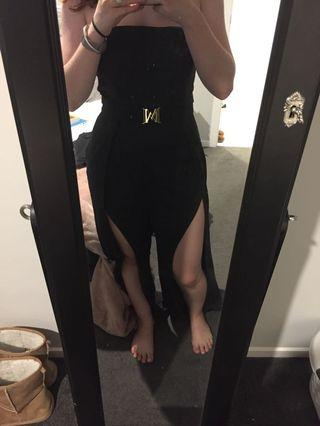 Black meshki jumpsuit
