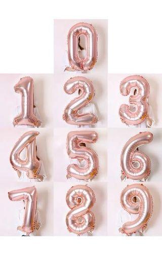 🚚 Rose Gold Foil Number Balloons