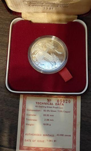 1981 $5 Proof Coin set