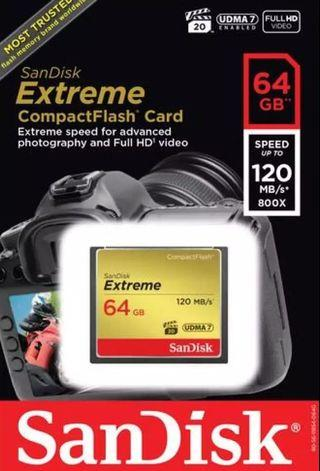 Memory Card Compact Flash 64GB (Sandisk)