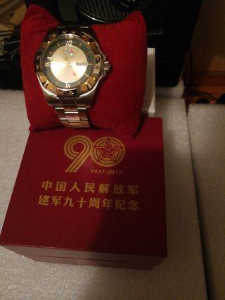中國建軍90周年紀念錶