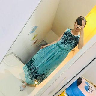 Maxi Dress hijau tosca