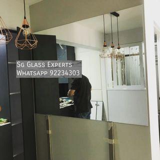 🚚 Clear mirror hdb renovation