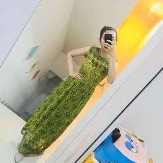 Maxi Dress hijau lumut