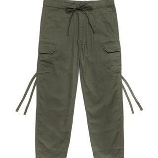 Plain me 斜紋抽繩軍褲 軍綠 S號 COP1618 plain-me 大口袋機能