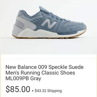 66b66ac4893e1 New Balance Speckle Suede Men's Running Shoes ML009PB Gray