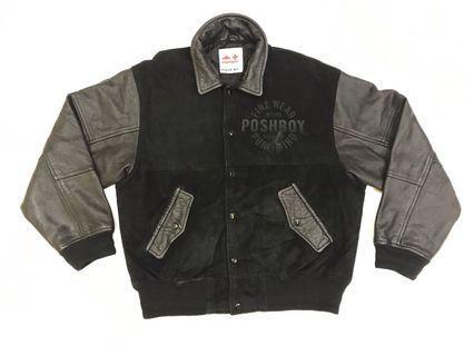 Posh Boy Leather Bomber Jacket