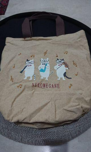Tote Bag with Cat Prints