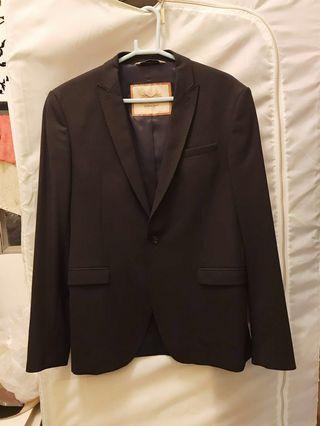 Zara Slim-fit Navy Blue Suit Blazer Jacket 深藍色西裝外套