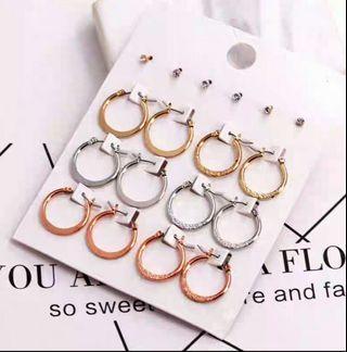 🚚 Korean Earrings-set of 9