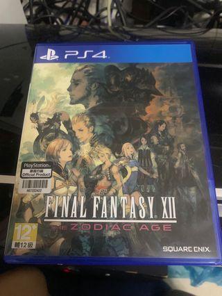 Ps4 Game FINAL FANTASY 12 中文版