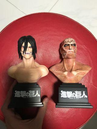 🚚 (2 for $30) Attack on Titan Busts