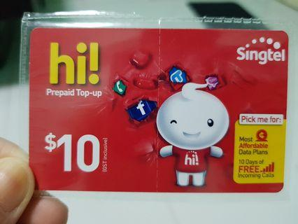 SingTel Top-up Card
