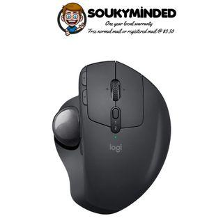 [IN-STOCK] Logitech MX Ergo Wireless Trackball Mouse – Adjustable Ergonomic Design, control and Move Text/Images/Files Between 2 Windows and Apple Mac Computers (Bluetooth or USB), Rechargeable, Graphite