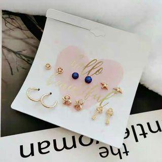 Korean Style Earrings -set of 6