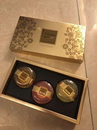 台鹽黃金香氛禮盒三入全新