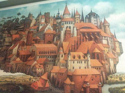 移動城堡大型拼圖掛畫