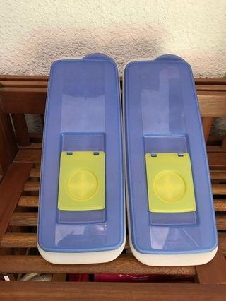 Tupperware Ice Holder Blue Yellow