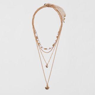正品 H&M 串珠貝殼項鍊
