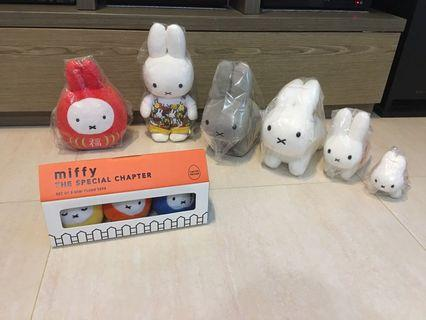 Miffy 達摩公仔 兔仔造型 工人褲造型