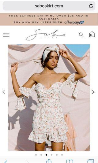 SABO SKIRT Floral Tie Dress