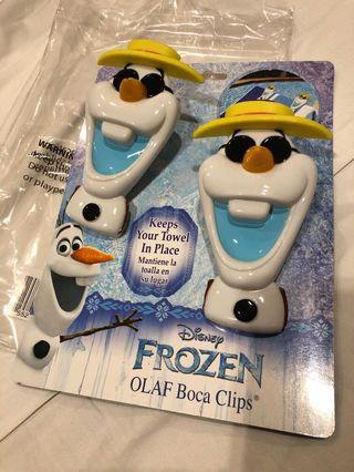 Disney's Frozen Olaf Boca Clips (for Beach Towels)