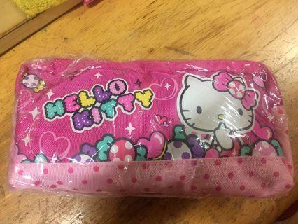 凱蒂貓鉛筆盒(長約20cm,寬約10cm)