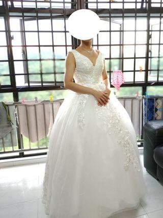 BN White Wedding Gown
