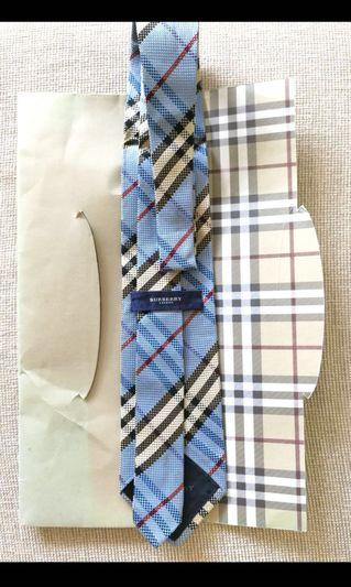 Instock!! Great Sale!! Price Greatly Reduced!! Only Used Once!! 1000% Authentic Burberry London Checkered Tie/Checkered Necktie/Check Tie/Check Necktie