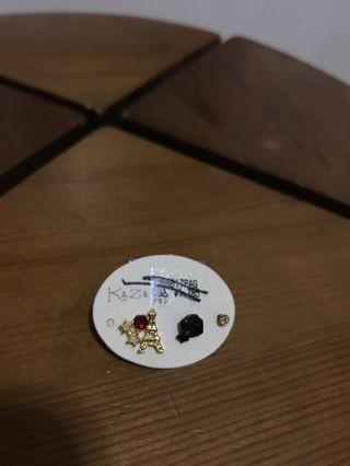 Kaza 巴黎鐵塔閃石耳環 (3隻1set) 日本飾物