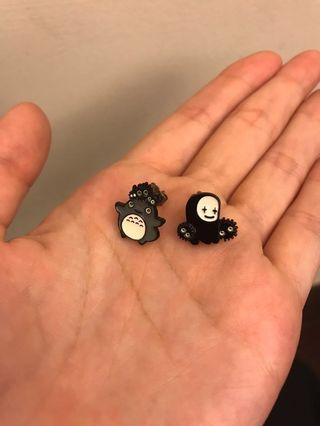 (購物禮)龍貓耳環