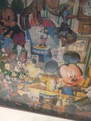 🚚 正版迪士尼米奇米妮可愛大型拼圖