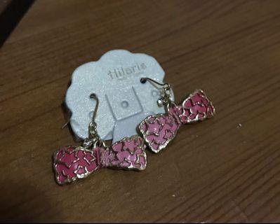 Hilaris 星星蝴蝶結耳環 (日本飾物,購自accessoriesmall)