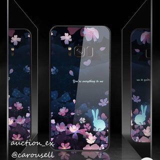 Samsung s8 case櫻花玻璃殻