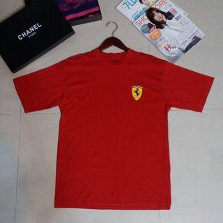 正品國外帶回Ferrari法拉利 男魔鬼紅純棉圓領T恤M