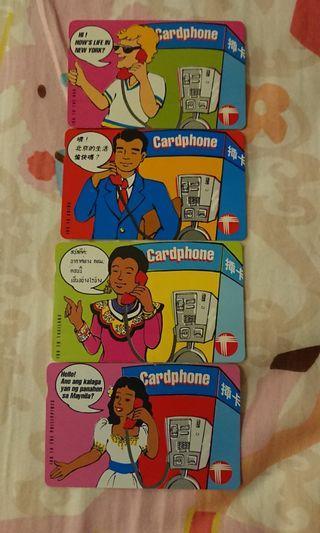舊款電話公司 電話卡一套四張