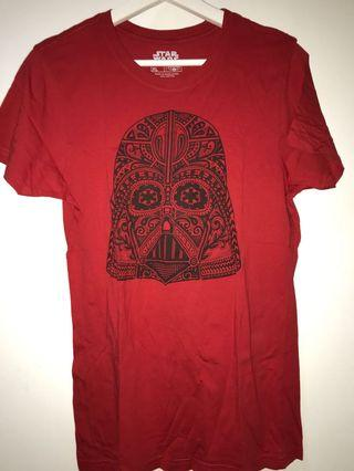 T shirt Star Wars Darth Vader merah