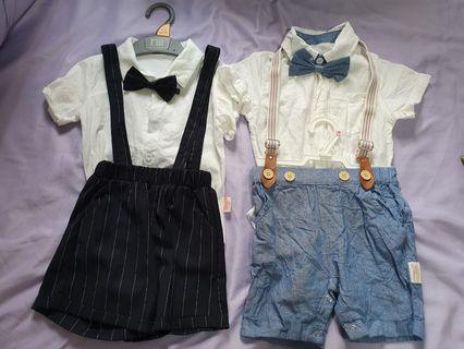 🚚 Baby boy handsome suspender  suit