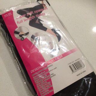 FULL LENGTH OPAQUE BLACK TIGHTS