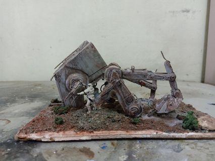 Star wars diorama AT-ST