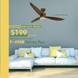 [Cheapest DC Ceiling Fan] Fanco F-Star with 18W 3tone LED light