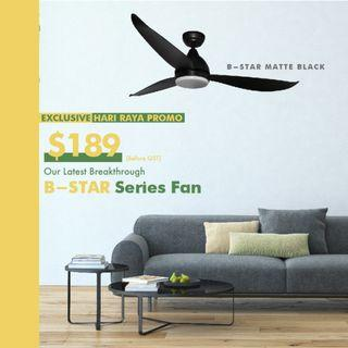 [Cheapest DC Ceiling Fan] Fanco B-Star with 18W 3 tone LED