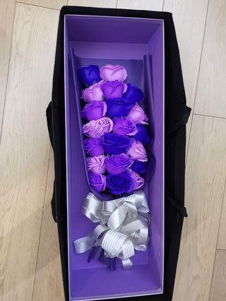 Handmade flowers 肥皂花束 紫色 連gift box